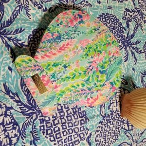 Lilly Pulitzer makeup case with brushes